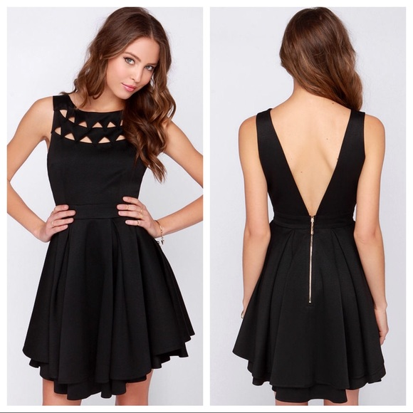 1b4abcb51a Lulu s Dresses   Skirts - FLIRTING WITH DANGER CUTOUT BLACK DRESS